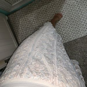 Lace fully lined midi skirt